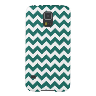Teal Green Zig Zag Design Pattern Galaxy S5 Case