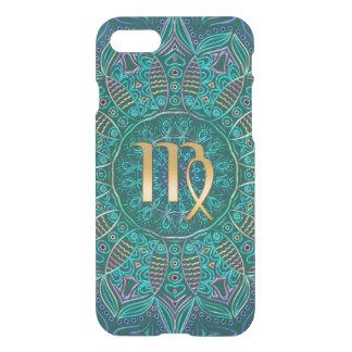 Teal Green Zodiac Sign Virgo Mandala iPhone 7 Case