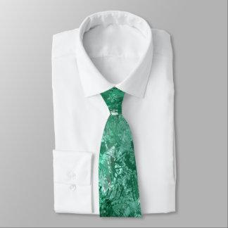 Teal Grunge Collage Tie
