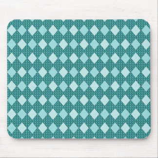 Teal-Harlequin_Diamonds_Home-Work-Decor Mouse Pad