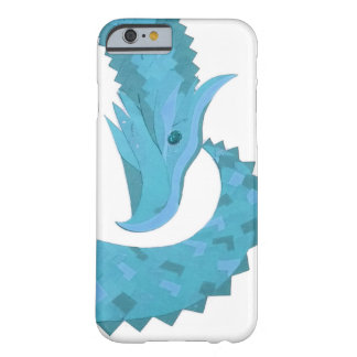 Teal heart dragon on white barely there iPhone 6 case