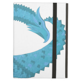 Teal heart dragon on white case for iPad air