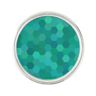 Teal Hexagonal Lapel Pin