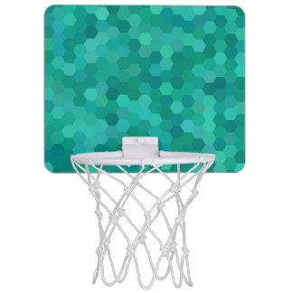 Teal Hexagonal Mini Basketball Hoop