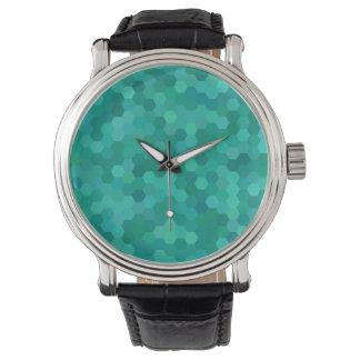 Teal Hexagonal Watch