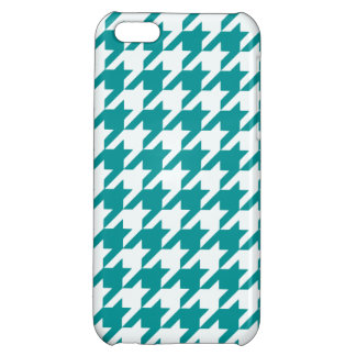 Teal Houndstooth 1 iPhone 5C Covers