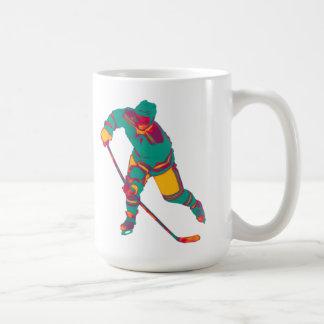 Teal Ice Hockey Player, Personalized Mug