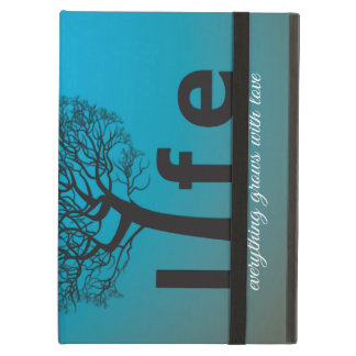 Teal Inspirational Life Tree Quote iPad Air Cover