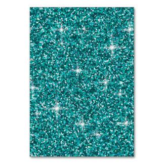 Teal iridescent glitter card