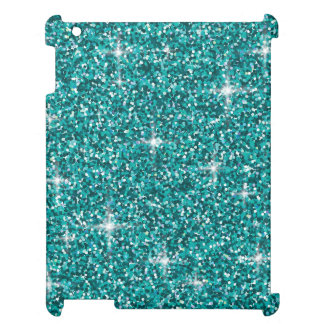 Teal iridescent glitter case for the iPad