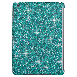 Teal iridescent glitter iPad air cases
