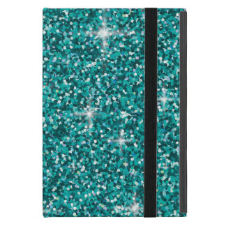 Teal iridescent glitter iPad mini covers