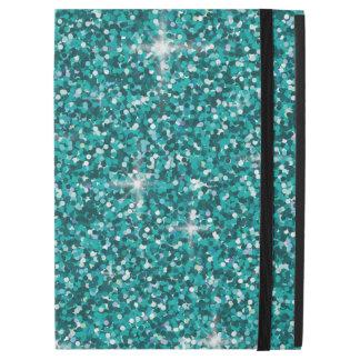 """Teal iridescent glitter iPad pro 12.9"""" case"""