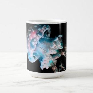 Teal Jelly Fish Design Monogram Mug