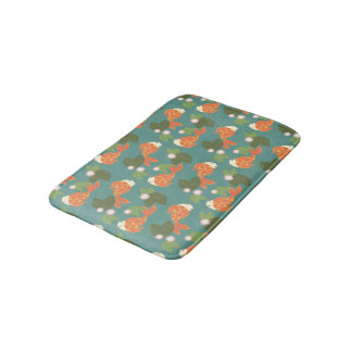 Teal Koi Pond Bathroom Mat