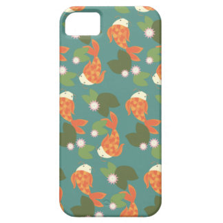 Teal Koi Pond Case For The iPhone 5