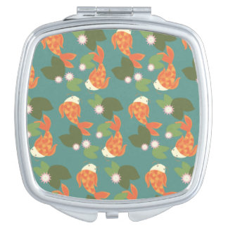 Teal Koi Pond Travel Mirrors