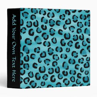 Teal Leopard Print Pattern. Vinyl Binders