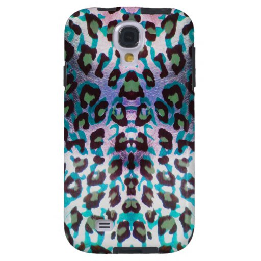 Teal Leopard Safari Print Galaxy S4 Case
