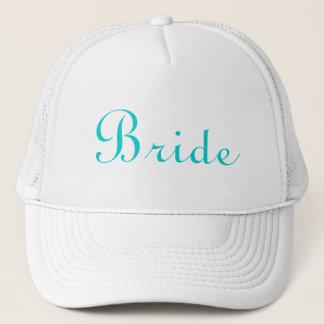 Teal Lettered Bride Hat
