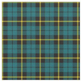 Teal light blue aqua yellow stripe plaid print2 fabric