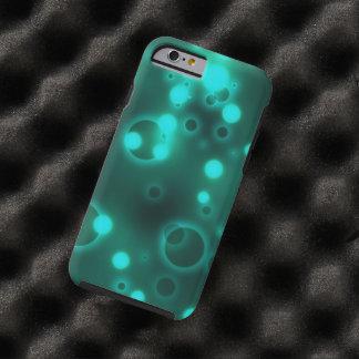 Teal Light Polka Dot Pattern Tough iPhone 6 Case