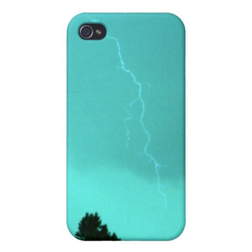 Teal Lightning 3 4/4s  Case For iPhone 4