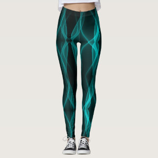 Teal Lightning Leggings