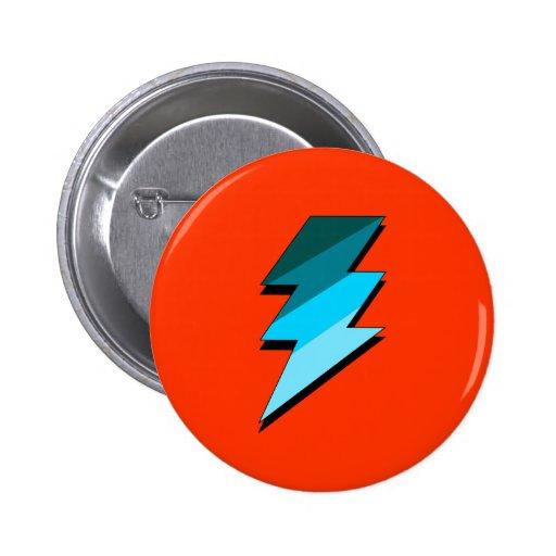 Teal Lightning Thunder Bolt Pins