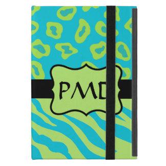 Teal, Lime Greem Zebra & Cheetah Personalized Cases For iPad Mini