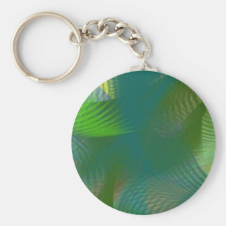 Teal Lime Sage Olive Green Whirlwind Swirls Keychains