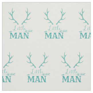 Teal Little Man Fabric