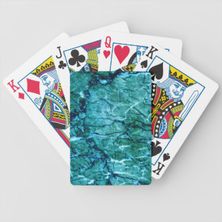 Teal Marble Bicycle Playing Cards