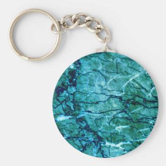 Teal Marble Keychain