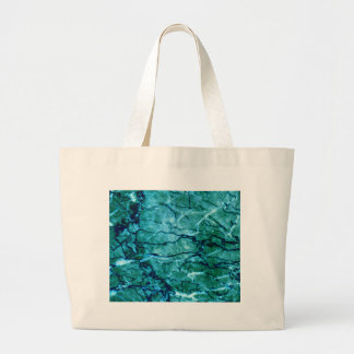 Teal Marble Large Tote Bag