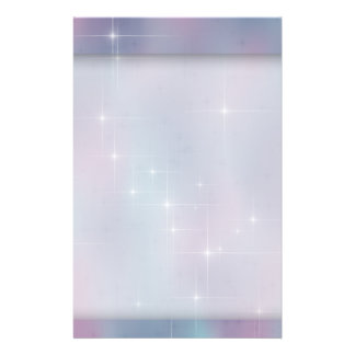 Teal Mauve Sparkle Nebula Stationery
