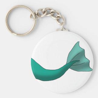 Teal Mermaid Tail Keychain