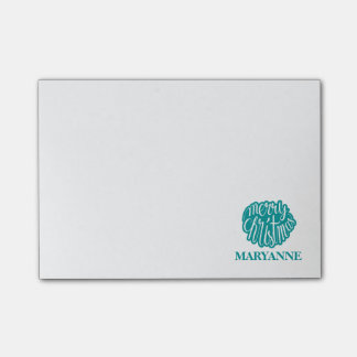 Teal Merry Christmas, Script Post-it Notes