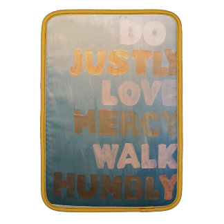 Teal Micah 6:8 Macbook Air Sleve MacBook Sleeve