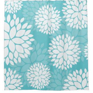 Teal Mint Floral Pattern