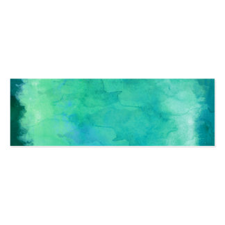 Teal Mint Green Watercolor Texture Pattern Pack Of Skinny Business Cards