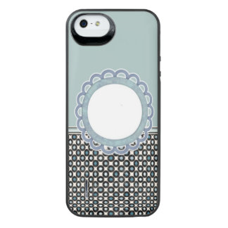 Teal monogram iPhone 5/5s battery case