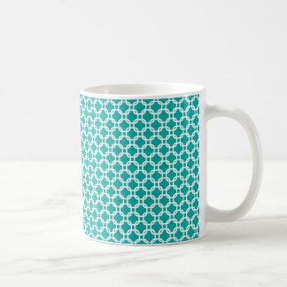 Teal Moroccan Geometric Design Mug
