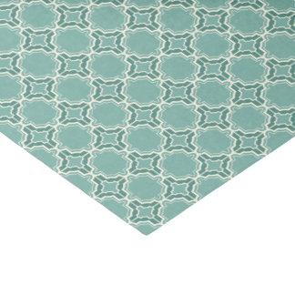 Teal Moroccan Lattice Pattern Tissue Paper