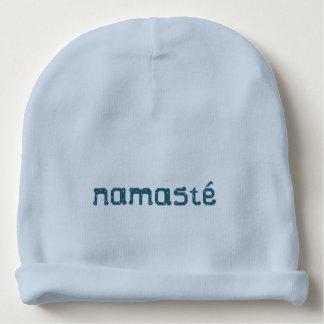 Teal Namaste Baby Beanie