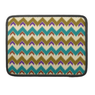 Teal Native Tribal Chevron Pattern Macbook Pro 13 Sleeve For MacBook Pro