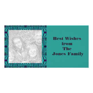 Teal Navy Abstract Picture Card