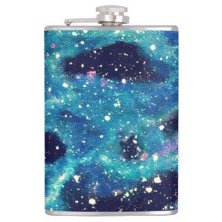 Teal Nebula Hip Flask