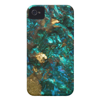 Teal Oil Slick and Gold Quartz Case-Mate iPhone 4 Cases