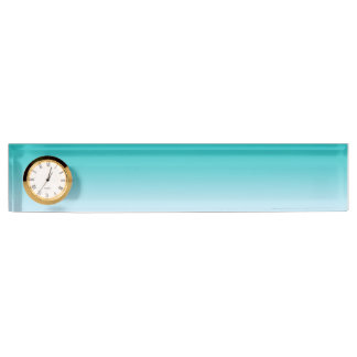 Teal Ombre Desk Name Plates